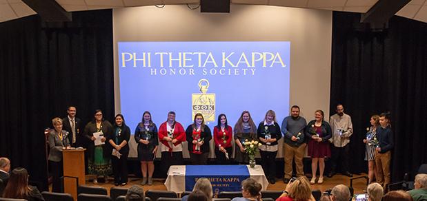 WVU Parkersburg Phi Theta Kappa honor society chapter welcomes new members