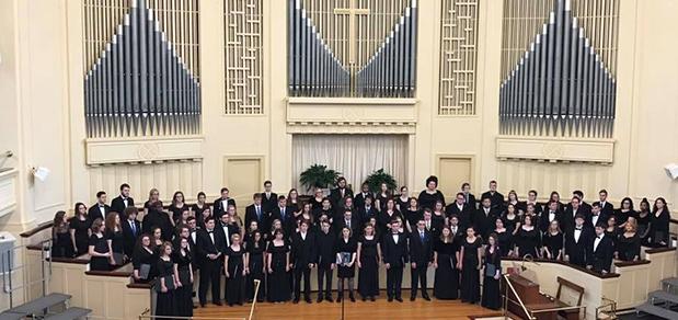 West Virginia University at Parkersburg chorale students perform in WV-ACDA Collegiate Honor Choir