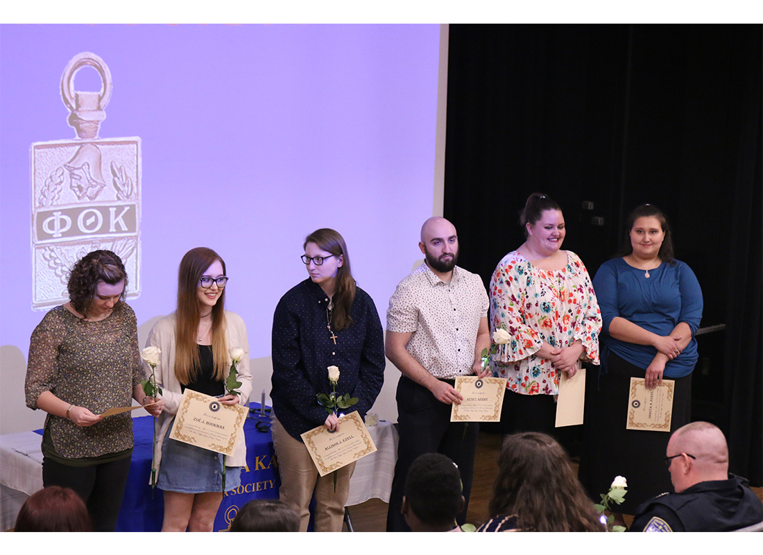 WVU Parkersburg Phi Theta Kappa honor society chapter honors new members and PROMISE scholars