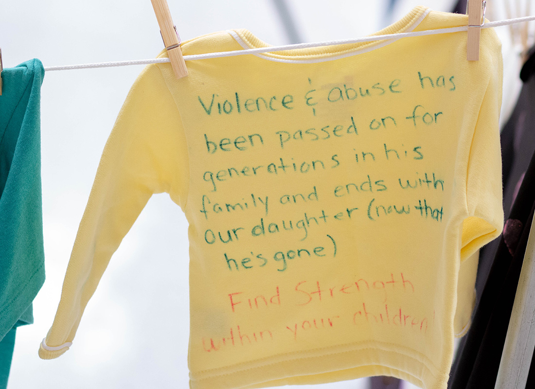 WVU Parkersburg observes Domestic Violence Awareness Month with presentation and local Clothesline Project display