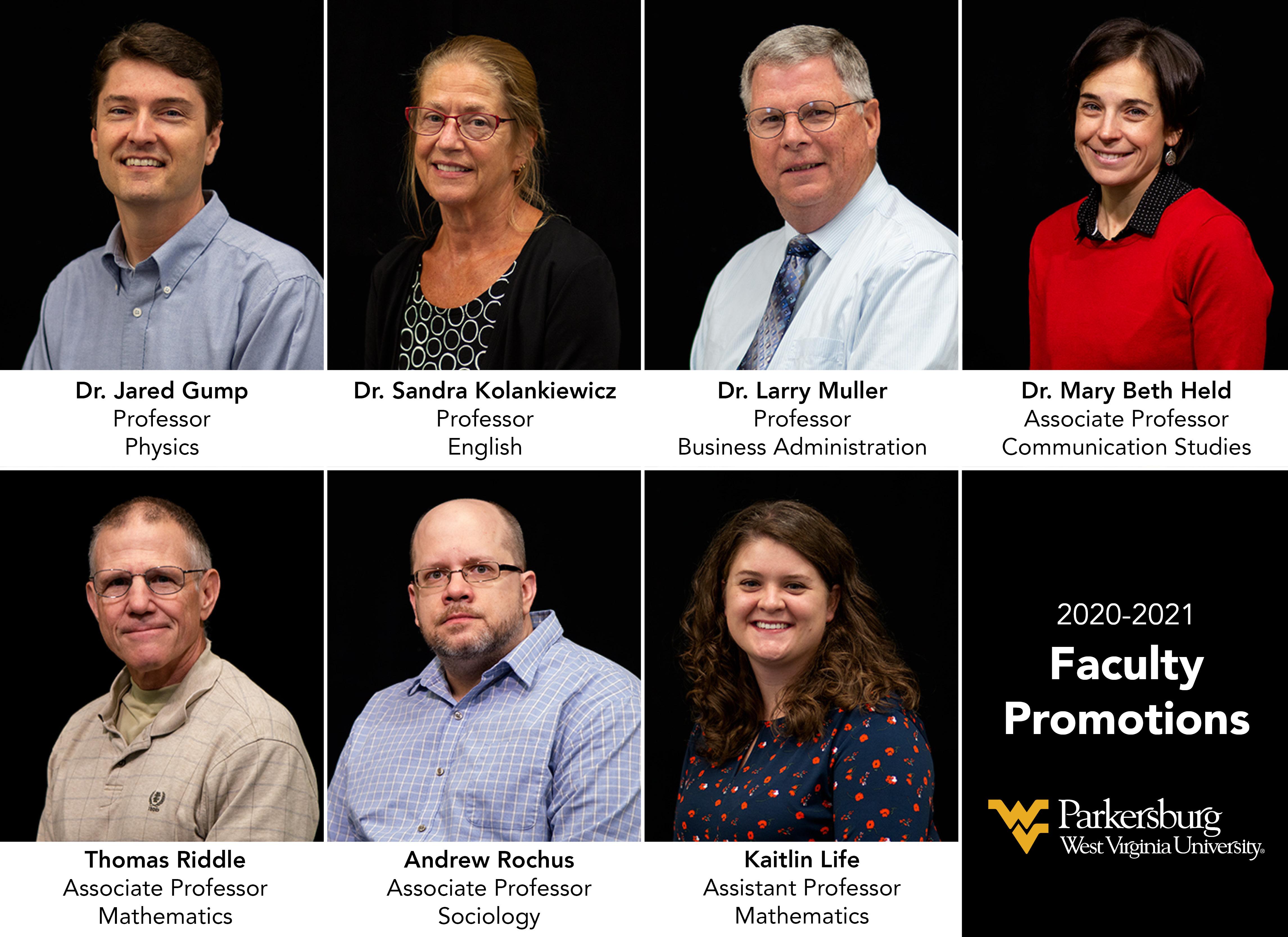 WVU Parkersburg announces faculty promotions