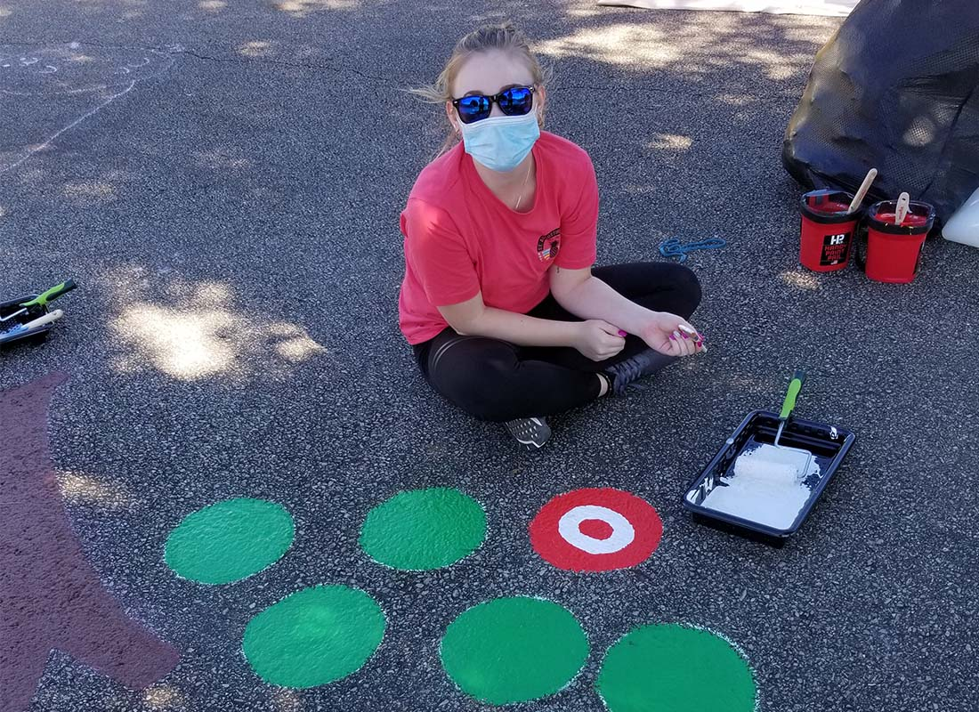 WVU Parkersburg Students Install Sensory Paths at Area Elementary Schools